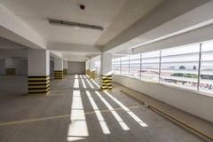 Empty underground parking garage. Turkey Royalty Free Stock Image