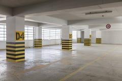 Empty underground parking garage Stock Photos
