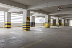 Empty underground parking garage. Turkey Royalty Free Stock Images