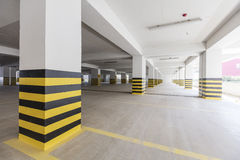 Empty underground parking garage Royalty Free Stock Photos
