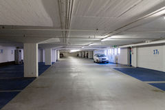 Empty underground parking. Lot area Stock Photo