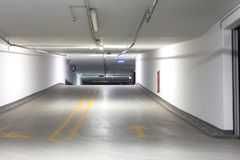 Empty underground parking lot Stock Image