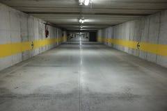 Empty underground parking. Lot city Royalty Free Stock Image