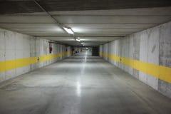 Empty underground parking. Lot city Stock Images