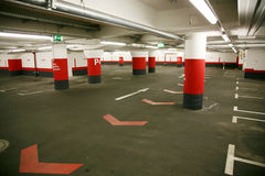 Empty underground parking Royalty Free Stock Photos