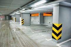 Empty underground parking Royalty Free Stock Photo