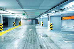 Empty underground parking Royalty Free Stock Photography