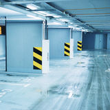 Empty underground parking Stock Image