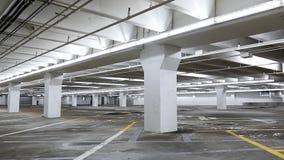 Empty underground parking. Motion of empty underground parking stock video