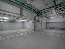 Empty underground parking Royalty Free Stock Photos