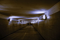 Empty underground passage Royalty Free Stock Photos