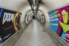 Empty underground passage. Empty underground passage in London, UK Stock Photography