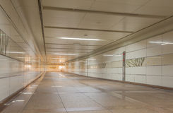 Empty underground passage at night Royalty Free Stock Images