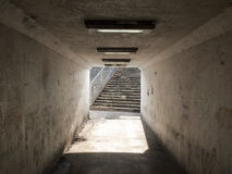 Empty underpass. Light on the end of the tunnel Royalty Free Stock Photo