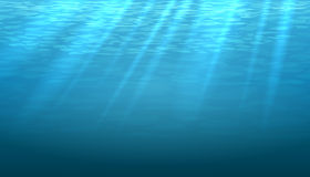 Empty underwater blue shine abstract vector. Background. Light and bright, clean ocean or sea illustration Stock Images