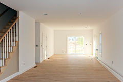 Empty Unfinished Home Interior stock photos