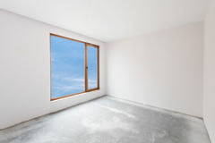 Empty unfinished interior (clipping path). Empty unfinished interior (includes clipping path royalty free stock images