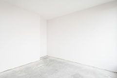 Empty unfinished interior. In white stock photo
