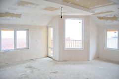 Empty unfinished room Stock Image