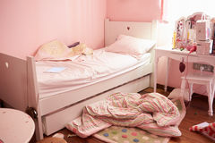 Empty And Untidy Child's Bedroom Royalty Free Stock Photography