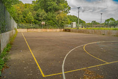An Empty unused urban sports court Royalty Free Stock Images