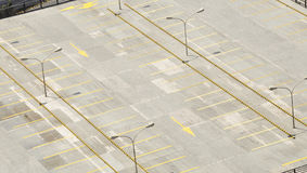 Empty upper level carpark Stock Photo