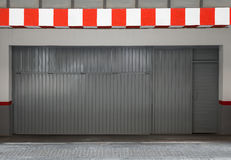Empty urban interior with parking gate Royalty Free Stock Photography