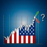 Empty USA Industrial stock exchange Stock Image