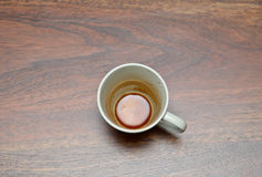 Empty used coffee cup Stock Images