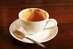 Empty used coffee cup Royalty Free Stock Photo