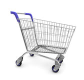 Empty used shopping trolley Royalty Free Stock Images