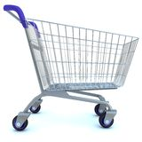 Empty used shopping trolley Stock Images