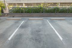 Empty Vacant parking lot/Parking garage department store with Copy Writing Space. Empty Vacant parking lot/Parking garage department store with Copy Writing royalty free stock images