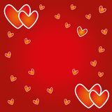 Empty valentine day card for sign and greeting. Stock Photography