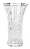 Empty vase of glass, isolated on white backgroun Stock Images
