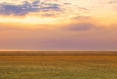 Empty vast desert sunrise. Stunning view in the Utah desert, USA Royalty Free Stock Photos
