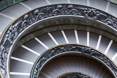 Empty Vatican Museum Spiral Staircase Royalty Free Stock Image