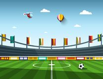 Empty Vector Football Soccer Stadium. Empty Vector Football - Soccer Stadium vector illustration