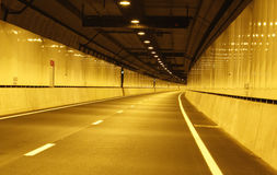 Empty vehicle tunnel before opening Royalty Free Stock Photography