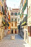Empty Venice Alley Royalty Free Stock Photo