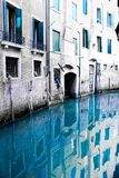 Empty Venice Canal in Blue Royalty Free Stock Photo