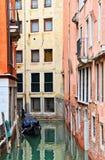 Empty Venice Canal Stock Photo