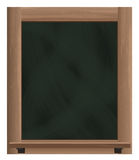 Empty vertical blackboard frame object Stock Photography