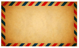 Empty vintage air mail envelope isolated on white Stock Image