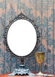 Empty Vintage antique mirror set for photo frame Stock Image
