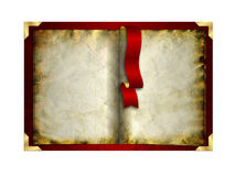 Empty vintage book isolated on white Royalty Free Stock Photo