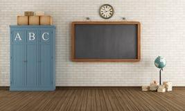 Empty Vintage classroom Stock Image