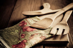 Empty vintage cutting board Royalty Free Stock Photo
