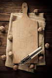 Empty vintage cutting board Royalty Free Stock Photography