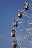 Empty Vintage Ferris Or Big Wheel Fragment Royalty Free Stock Image